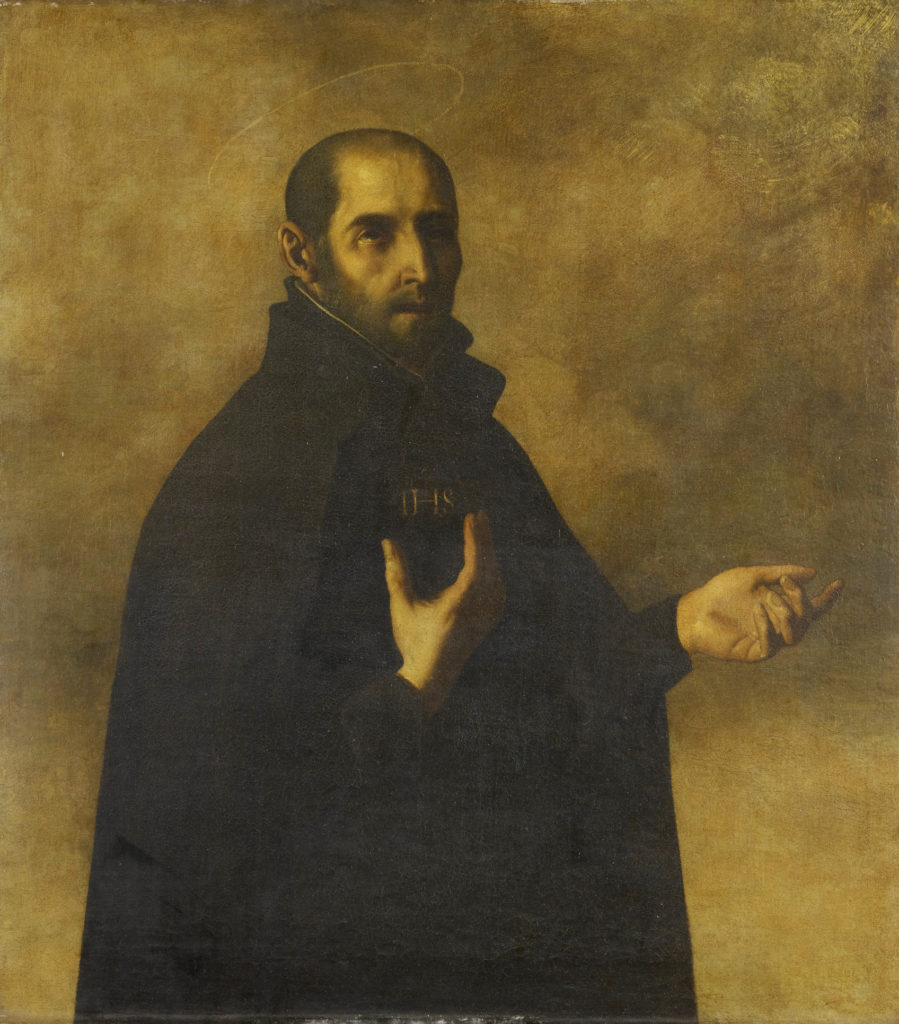 This image has an empty alt attribute; its file name is Ignatius_Loyola_by_Francisco_Zurbaran-899x1024.jpg